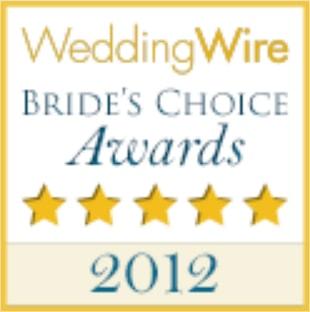 2012 WeddingWire Couples' Choice Award Winner