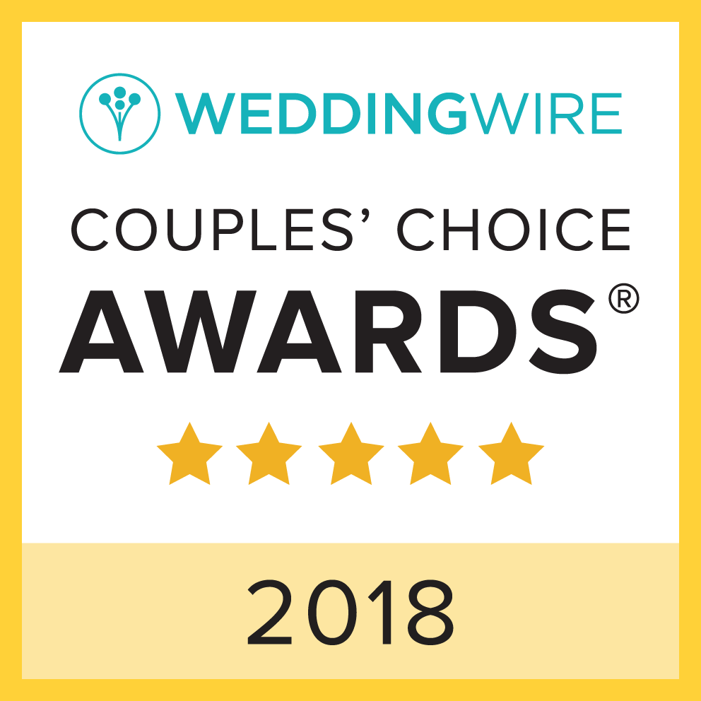 2018 WeddingWire Couples' Choice Award Winner