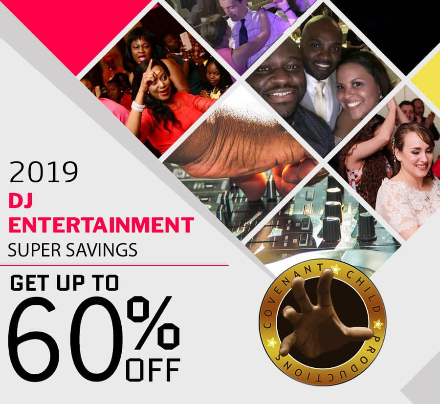 Get up to 60% off DJ entertainment for your 2019 event!