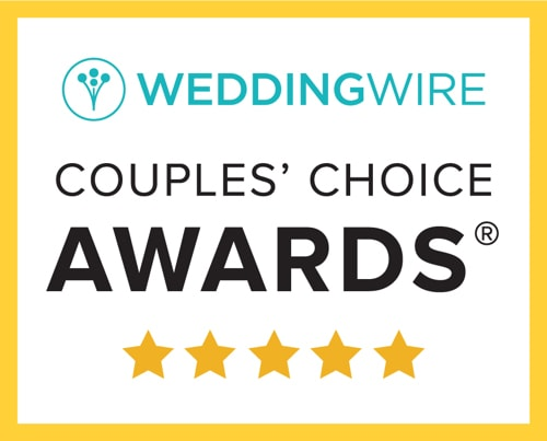 WeddingWire Rated™ Vendor. Couples Choice Awards® Winner